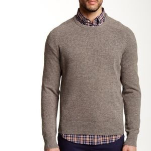 J CREW Lambs Wool Beige Crewneck Sweater